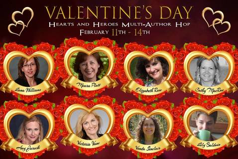 Valentines Day blog hop authors Picture